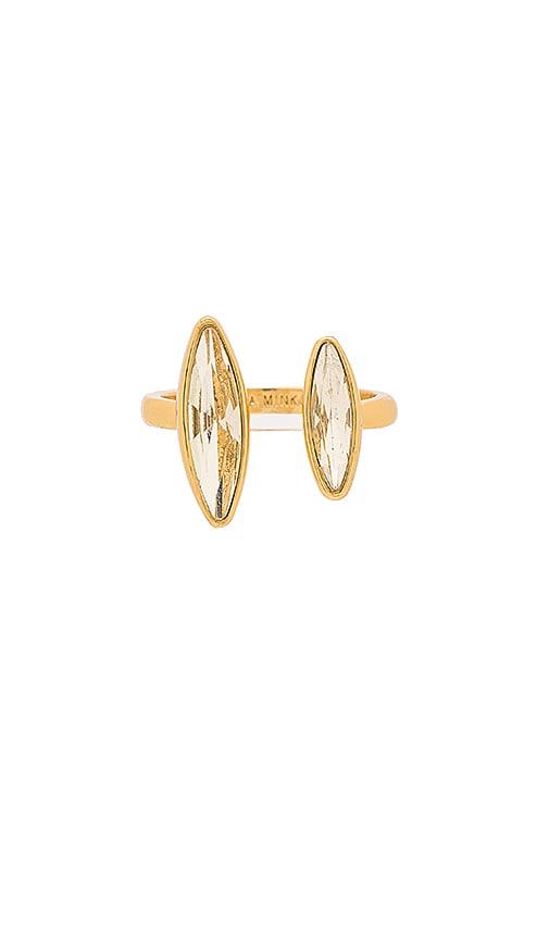 Rebecca Minkoff Sparkler U Ring in Metallic Gold