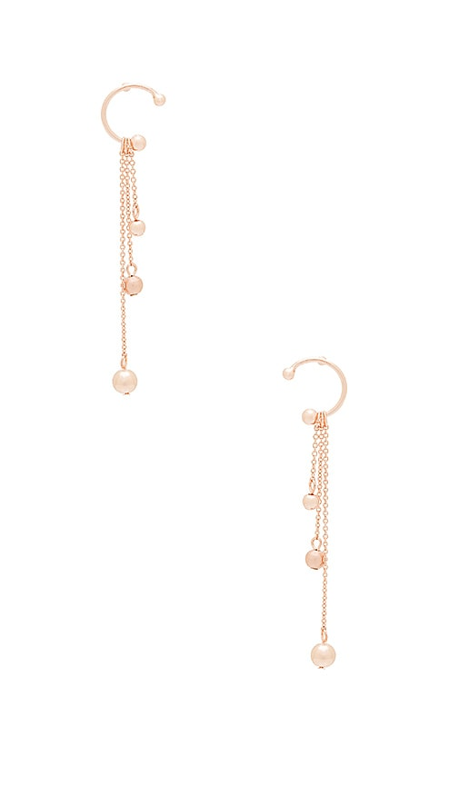 Rebecca Minkoff Linear Triple Drop Earring in Metallic Copper
