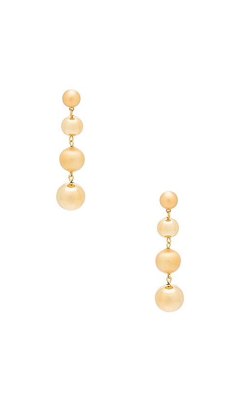 Rebecca Minkoff Statement Sphere Drop Earring in Metallic Gold
