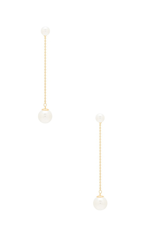 Rebecca Minkoff Sphere Drop Earring in Metallic Gold