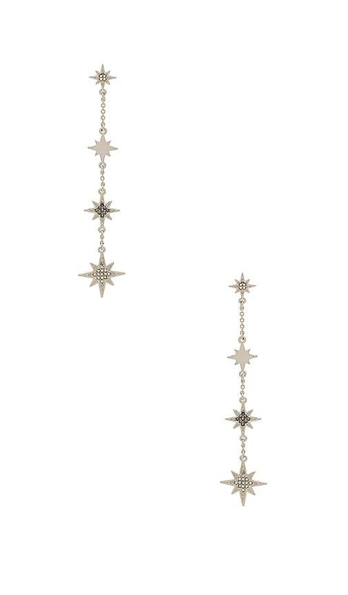 Rebecca Minkoff Stargazing Linear Earring in Metallic Silver