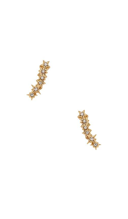 Rebecca Minkoff Stargazing Ear Crawler Stud in Metallic Gold