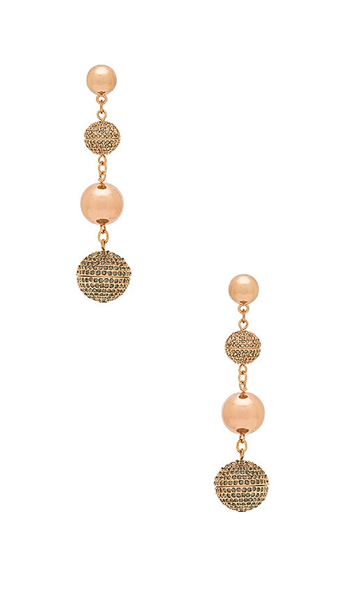 Rebecca Minkoff Statement Sphere Drop Earring in Metallic Copper