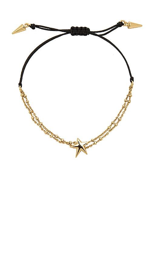 Rebecca Minkoff Star Pulley Bracelet in Metallic Gold