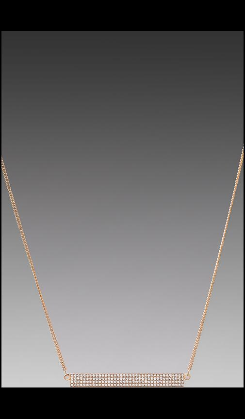 Pave Id Plate Necklace