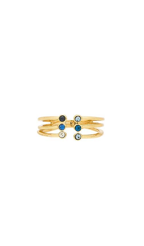 Rebecca Minkoff Ombre Bubble Claw Ring in Metallic Gold