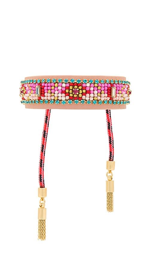 Rebecca Minkoff Patterned Seed Bead Friendship Bracelet in Pink