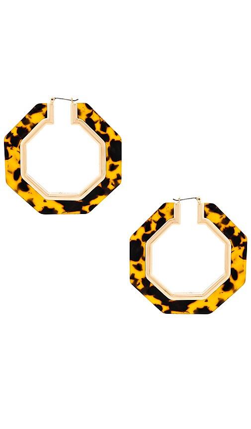 Octagon Resin Hoop Earrings