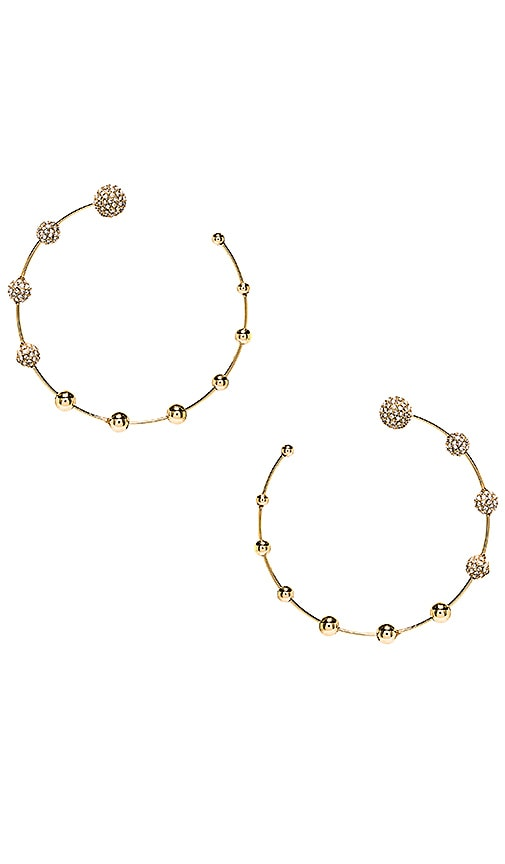 Pave Floating Ball Hoops