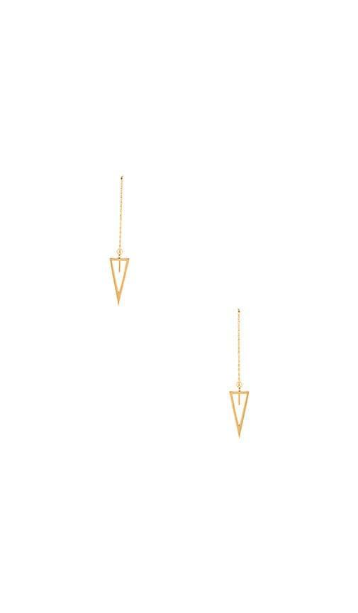 Triangle Long Chain Drop Earrings