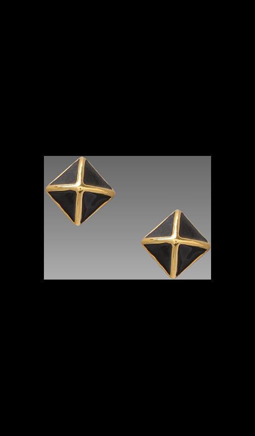 Small Enamel Stud Earring