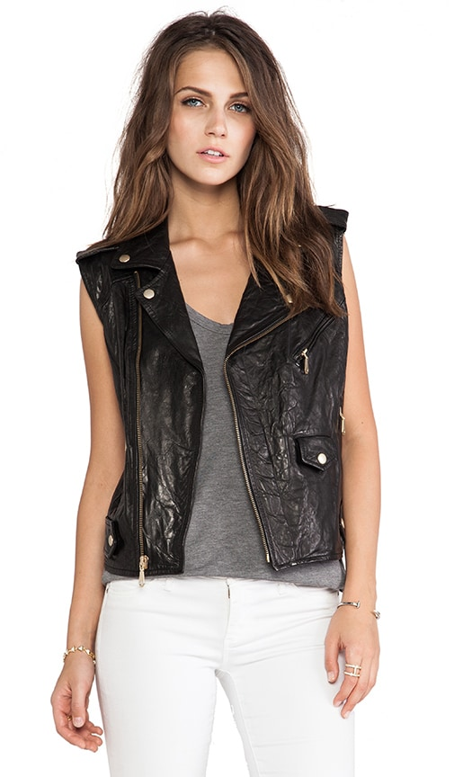 Leandra Leather Vest