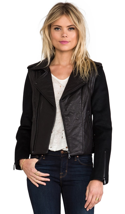 Wolf Zip Off Sleeve Moto Jacket