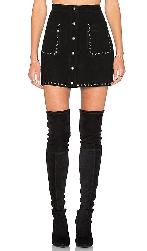 Rebecca Minkoff Rockin Eyelet Skirt in Black