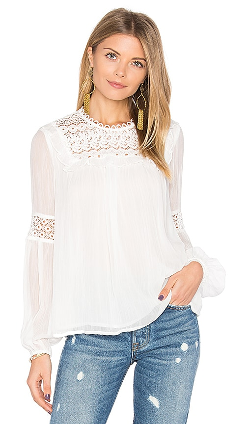 Rebecca Minkoff Johnston Top in White