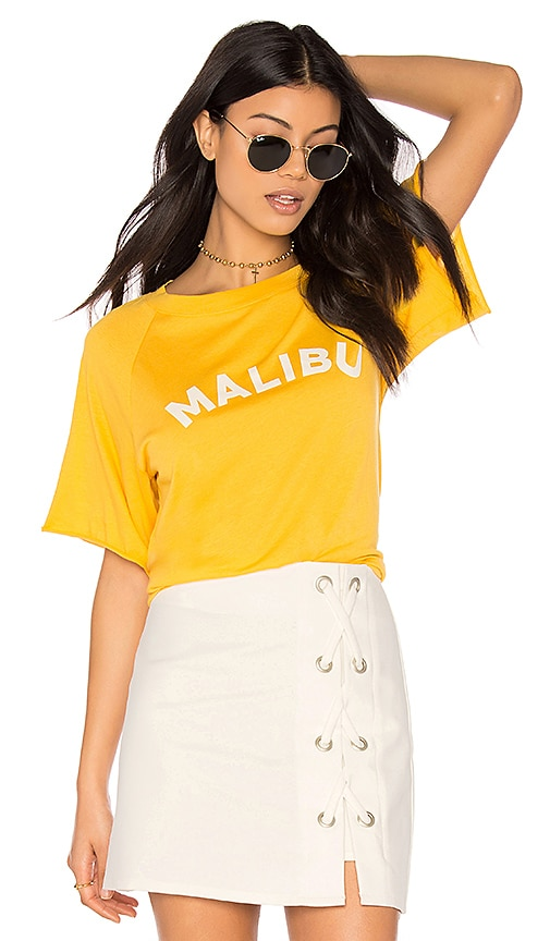 Rebecca Minkoff Malibu Lombardo T-Shirt in Yellow