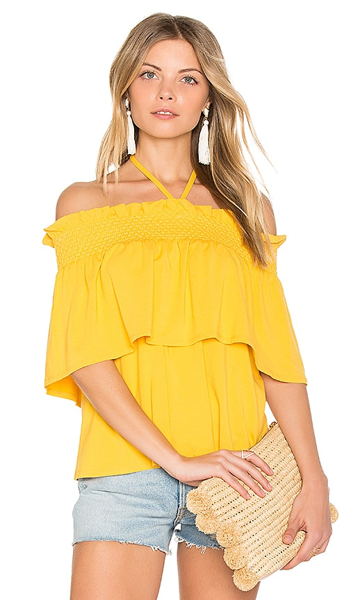 Rebecca Minkoff Ghiradelle Top in Yellow
