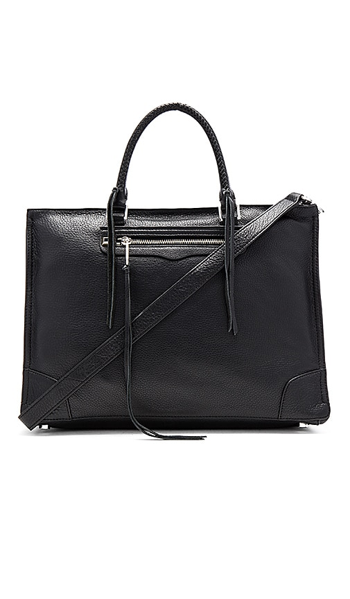 Rebecca Minkoff Large Regan Satchel Bag in Black