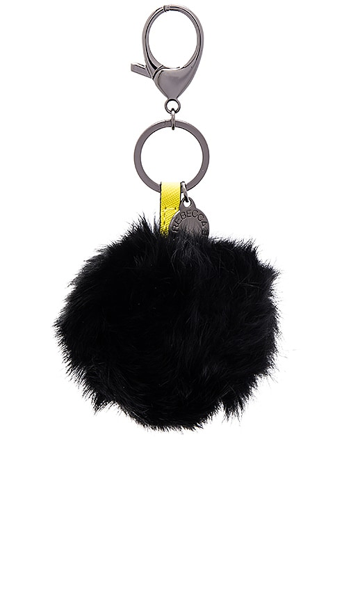 Rabbit Fur Pom Pom Key Chain
