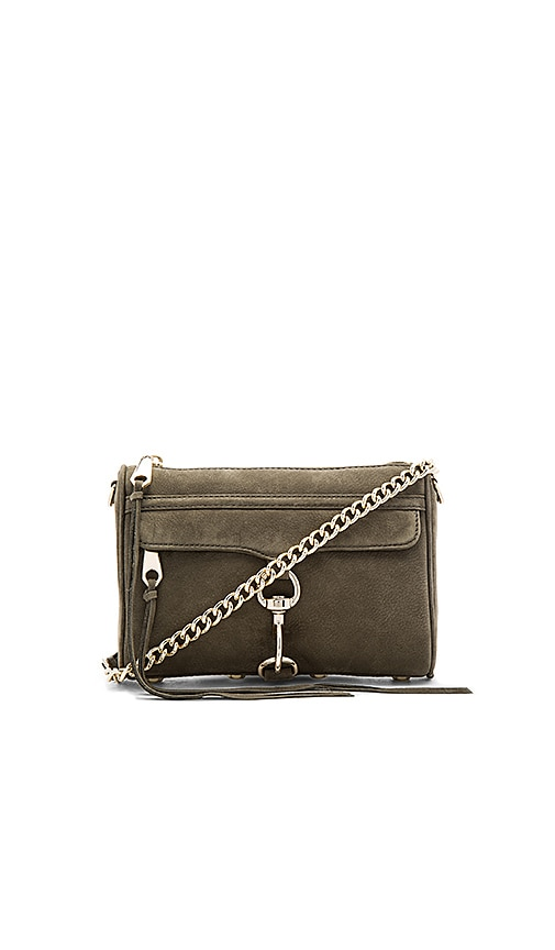 Rebecca Minkoff Mini Mac Crossbody Bag in Olive