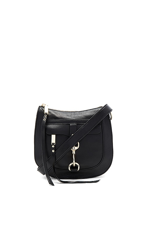 Rebecca Minkoff Dog Clip Saddle Bag in Black