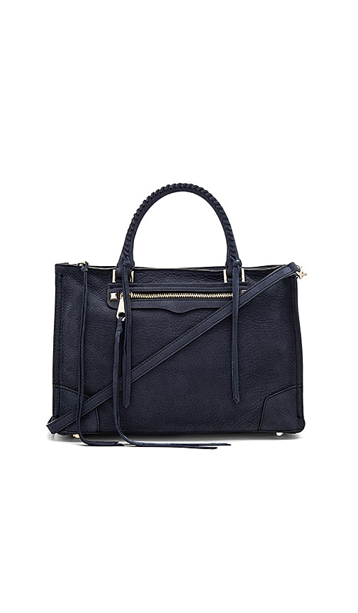 Rebecca Minkoff Regan Satchel Bag in Navy