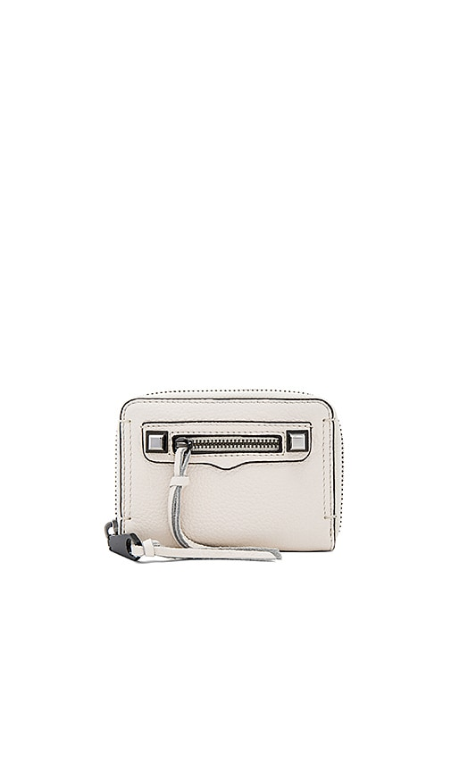 Rebecca Minkoff Mini Regan Zip Wallet in Cream