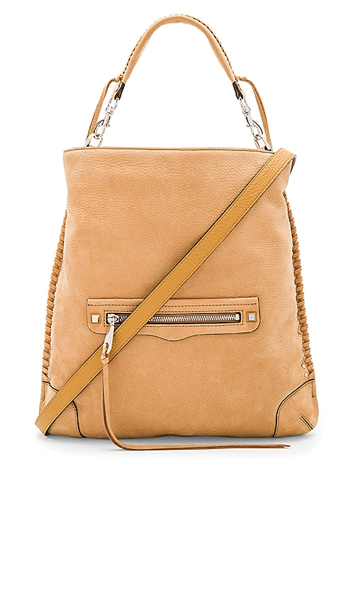 Rebecca Minkoff Slim Regan Hobo With Studs in Tan