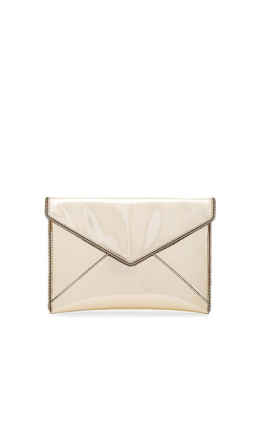 Rebecca Minkoff Leo Metallic Clutch in Metallic Gold