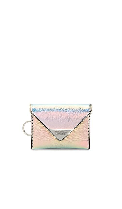 Rebecca Minkoff Molly Metro Wallet in Metallic Silver