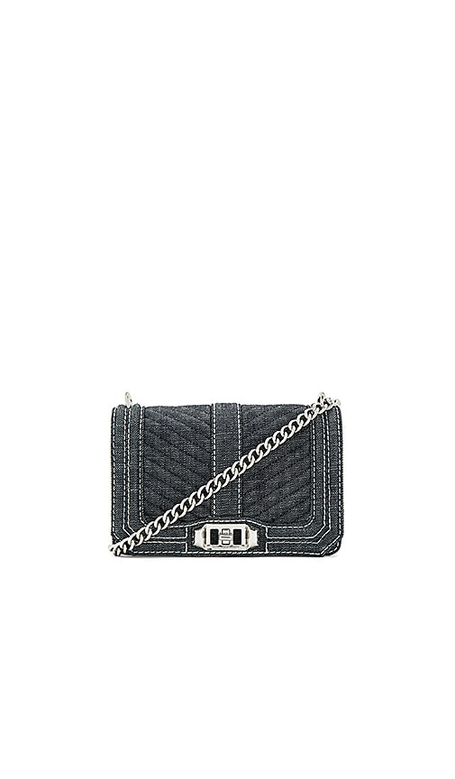 Rebecca Minkoff Chevron Quilted Small Love Bag in Blue
