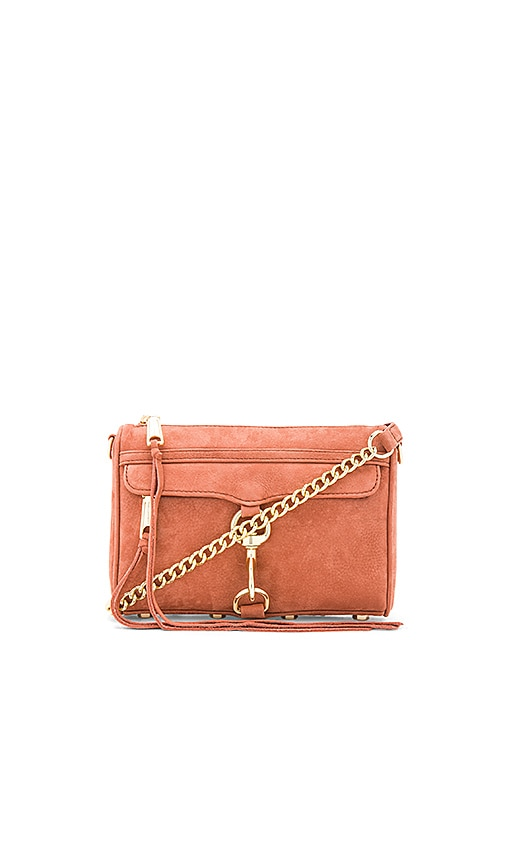 Rebecca Minkoff Nubuck Mini Mac Bag in Rose