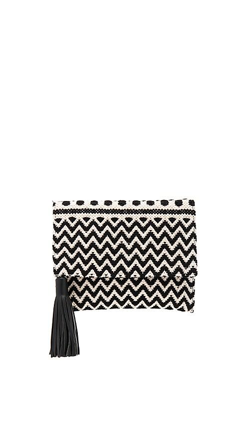 Rebecca Minkoff Sol Foldover Clutch in Black & White