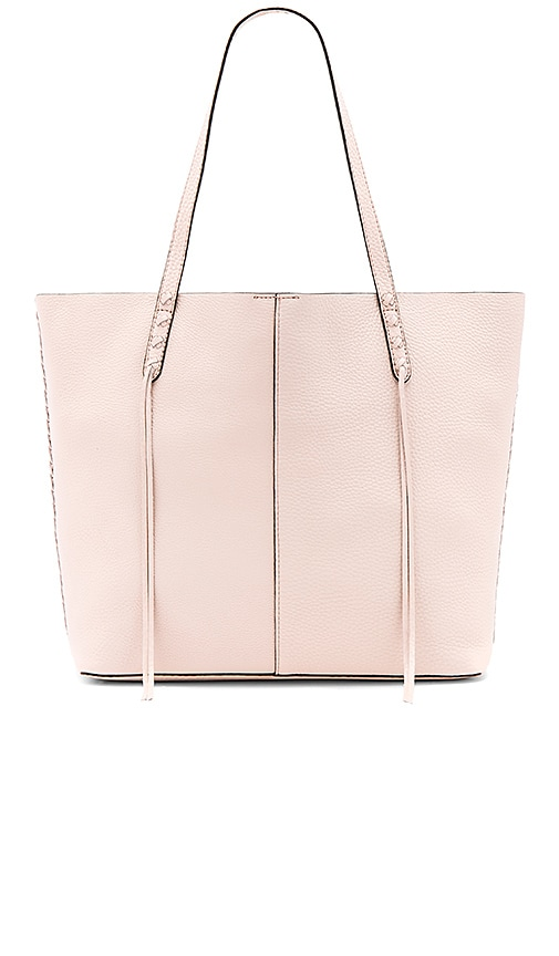 Rebecca Minkoff Medium Unlined Tote With Whipstitch in Blush