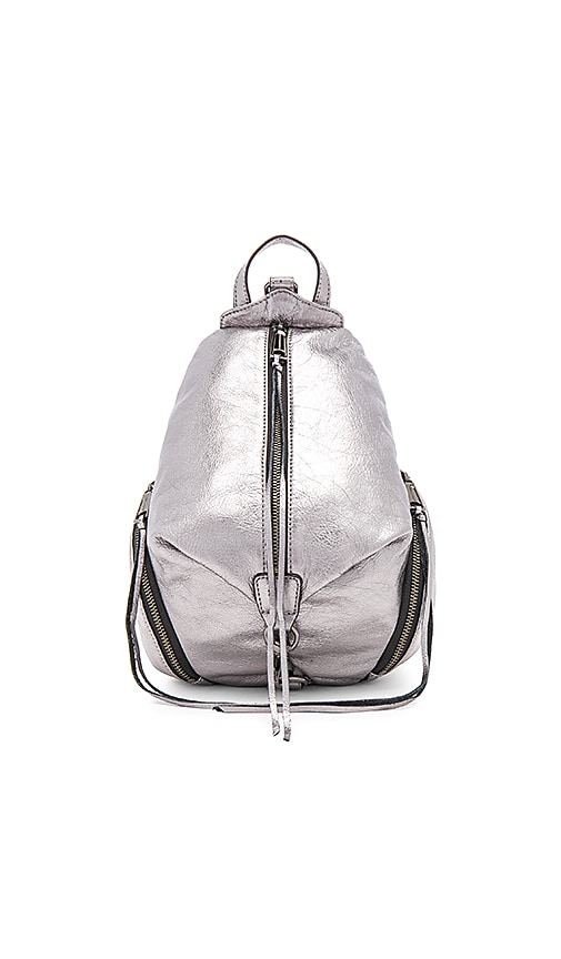 Rebecca Minkoff Medium Julian Backpack in Metallic Silver