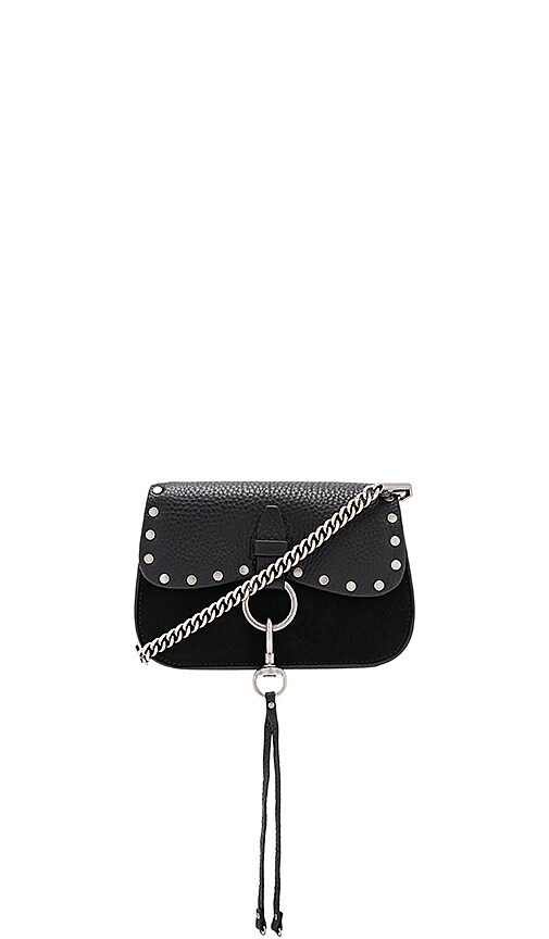 Rebecca Minkoff Keith Small Saddle Bag in Black