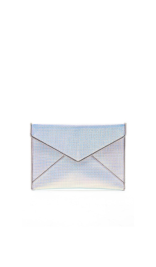 Leo Envelope Clutch - Metallic, Opal Iridescent