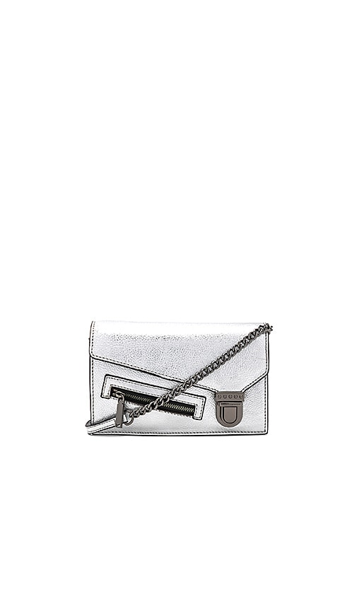Rebecca Minkoff Jamie Small Crossbody in Metallic Silver