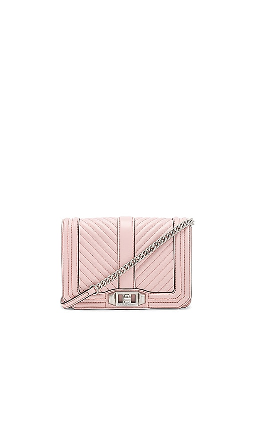 Rebecca Minkoff Chevron Quilted Small Love Bag in Pink