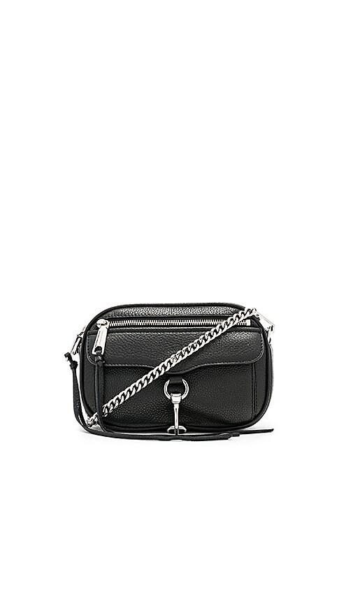 Rebecca Minkoff Blythe Pebbled Crossbody Bag in Black