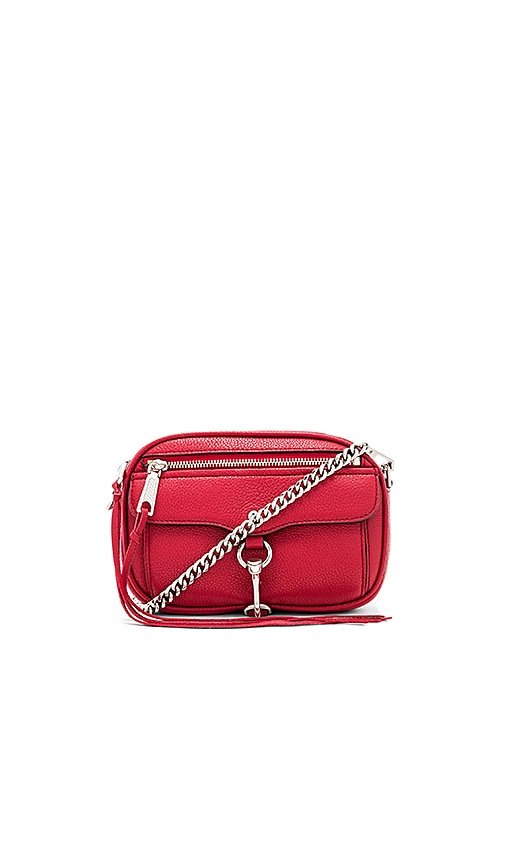 Rebecca Minkoff Blythe Pebbled Crossbody Bag in Red