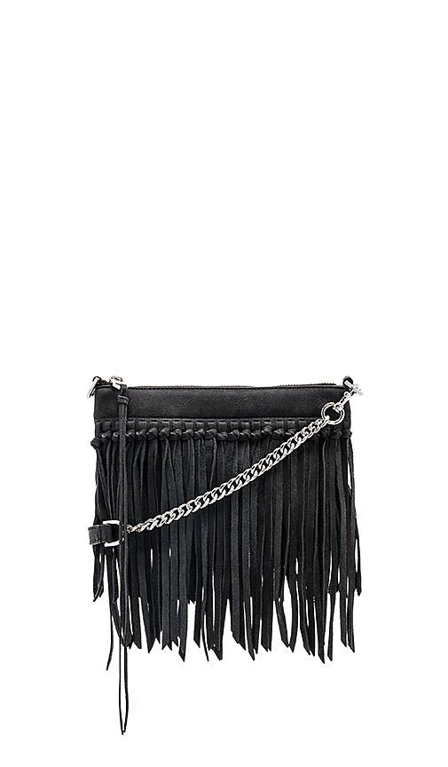 Rebecca Minkoff Stevie Top Zip Crossbody Bag in Black