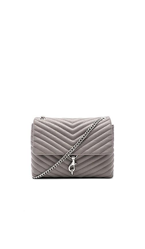 077a9da04196 Rebecca Minkoff Edie Flap Shoulder Bag in Grey