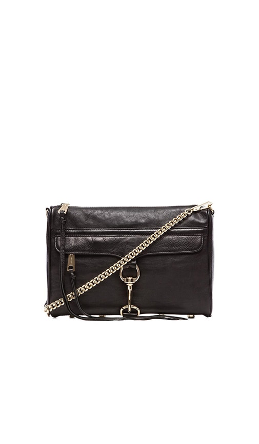 Rebecca Minkoff MAC Clutch in Black & Light Gold