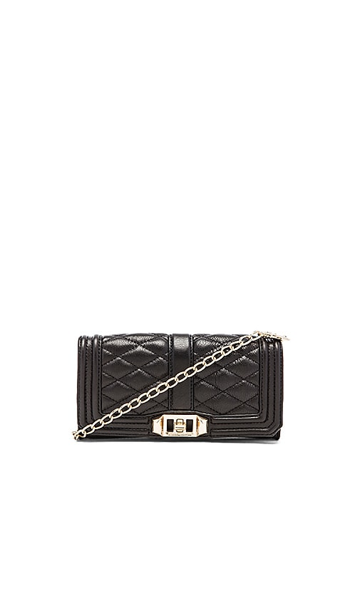 Rebecca Minkoff Mini Love Clutch in Black
