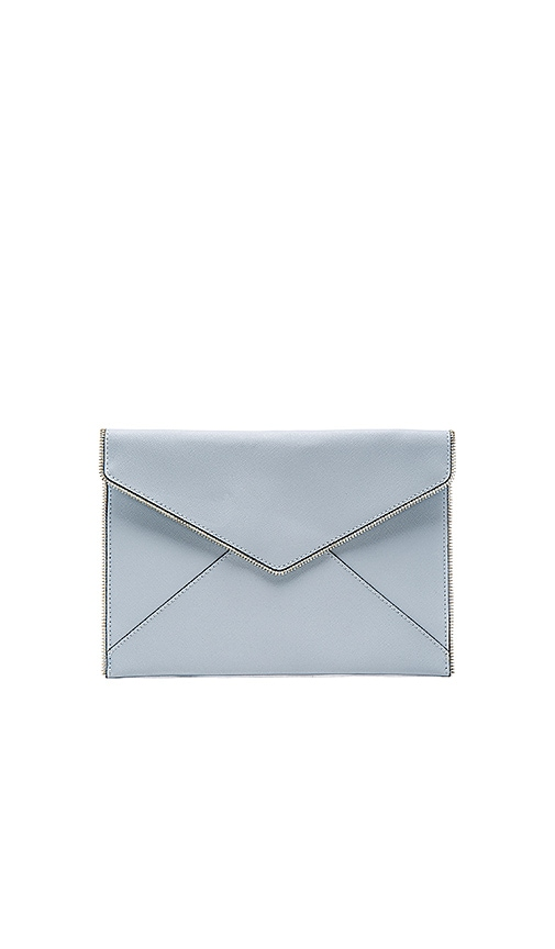 Rebecca Minkoff Leo Clutch in Bleached Blue