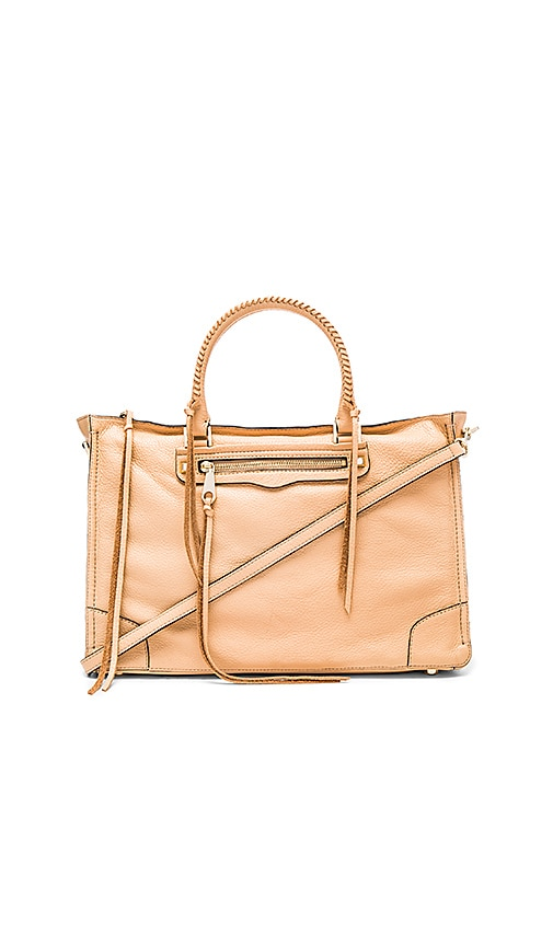 Rebecca Minkoff Large Regan Satchel Bag in Tan
