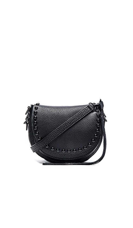 Rebecca Minkoff Unlined Saddle Bag in Black