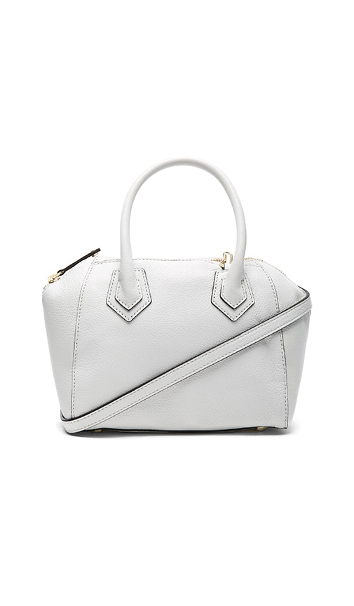 Rebecca Minkoff Micro Perry Satchel Bag in White