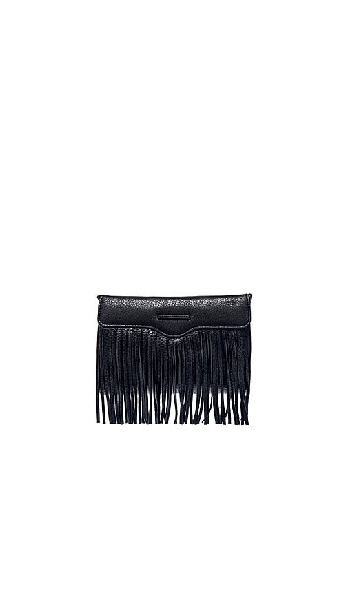 Rebecca Minkoff Universal Fringe Crossbody Bag in Black